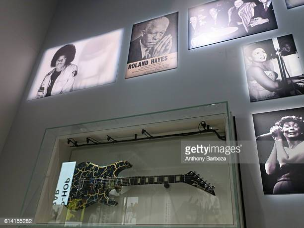View of a music display at the National Museum of African American History and Culture Washington DC September 28 2016