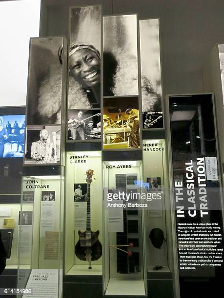 View of a musicians 'In the Classical Tradition' display at the National Museum of African American History and Culture Washington DC September 28...