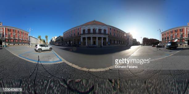 View of a near empty Corso Vittorio Emanuele on April 22, 2020 in Bari, Italy. Italy will remain on lockdown until May 4th to stem the transmission...