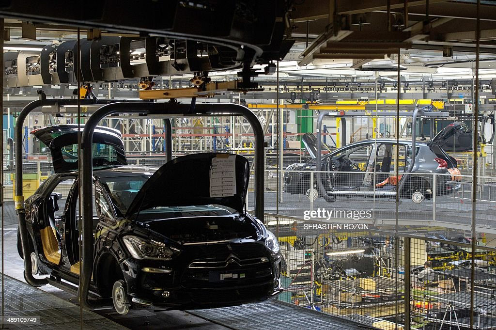 A view of a new Peugeot 308 car by French car maker PSA Peugeot ...