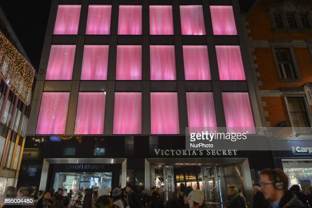 A view of a newly opened Victoria Secret shop in Dublin's Grafton Street just a few days ahead of Christmas On Monday 18 December 2017 in Dublin...