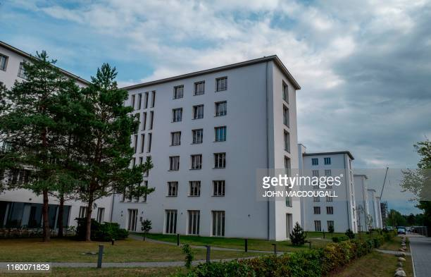 View of a newly renovated stretch of the heritageprotected Prora Complex in Prora near Binz on the island of Ruegen in northern Germany taken on...