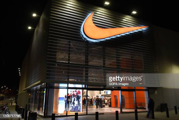 View of a Nike store.