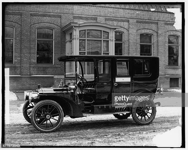 View of a Packard automobile, Detroit, Michigan, early 20th century.