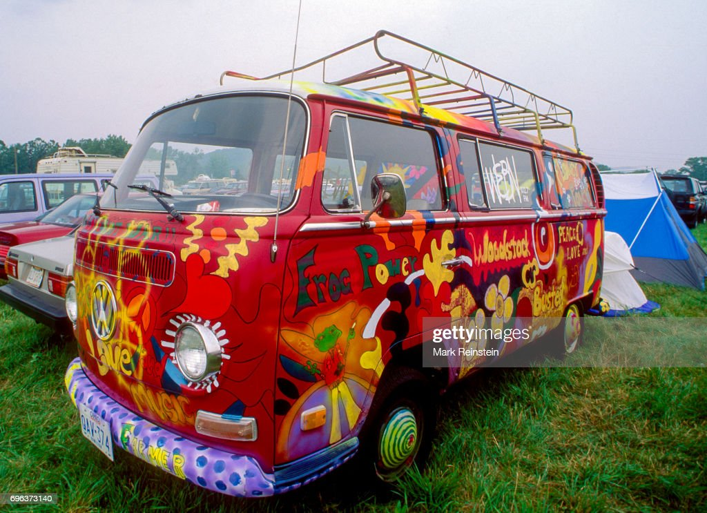 VW Van At Woodstock u002794 & VW Van At Woodstock u002794 Pictures | Getty Images