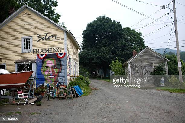 A view of a painting of Democratic Party presidential candidate Barack Obama is displayed on the wall of an artist's studio on July 20 2008 in Pawlet...