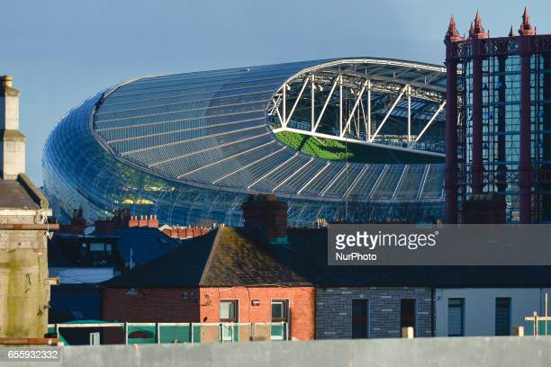 A view of a part of Aviva Stadium in Dublin On Monday March 20 in Dublin Ireland