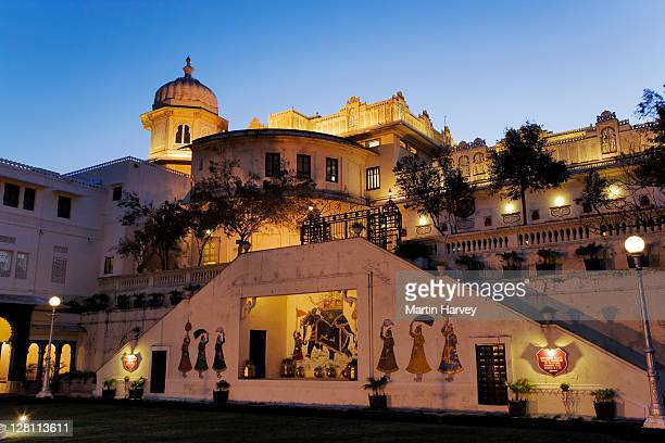 View of a part of the City Palace Complex at night. Udaipur, India. (PR: Property Released)