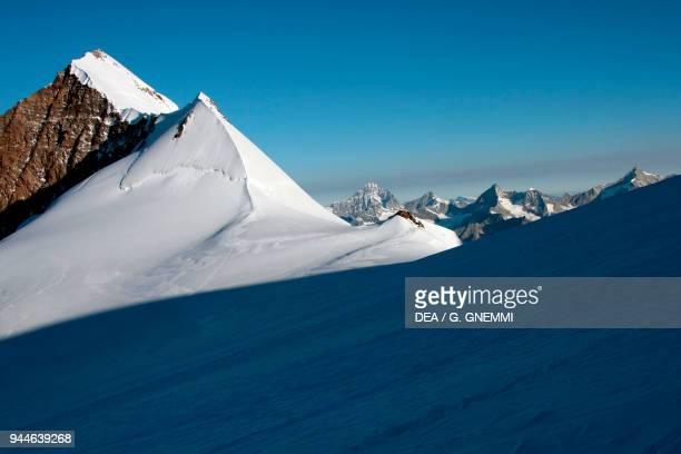 View of a peak of Monte Rosa massif Pennine Alps Italy