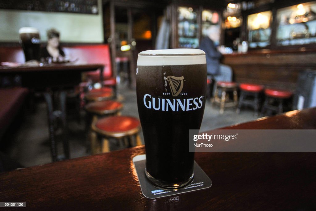 A perfect pint of Guinness in Slatterys Rathmines : News Photo