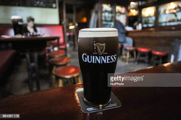 A view of a perfect pint of Guinness in MBSLATTERYS a traditional Dublin pub located in the heart of Rathmines that has been in the Slattery family...