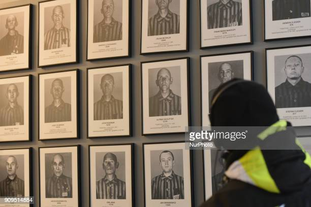 A view of a permanent exhibition inside the Auschwitz 1 camp seen just a few days ahead of the 73rd anniversary of the liberation of the German Nazi...