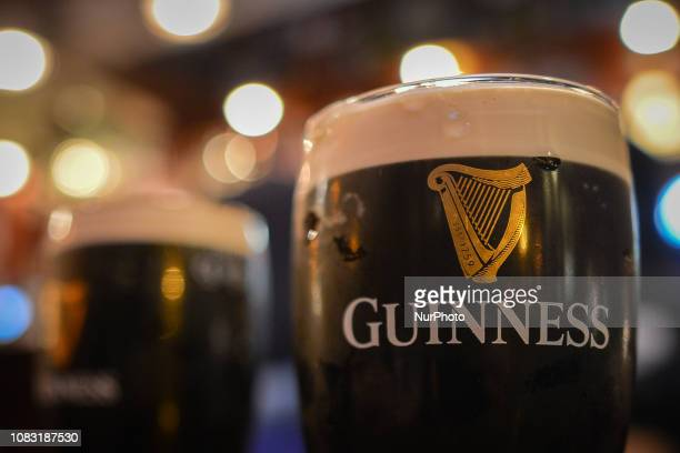 A view of a pint of Guinness in Dublin's pub In a press release the Guinness Company reported 2018 figure with 17 million visits of the famous...