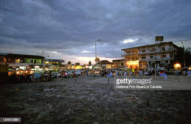 View of a plaza at night in Kinshasa Democratic Republic of the Congo 2003 Photo taken during the National Film Board of Canada's production of 'The...