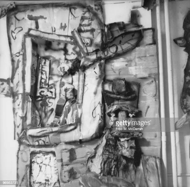 View of a portion of the interior of the Judson Gallery during a performance art piece entitled 'Ray Gun Specs' New York New York February 20 1960...
