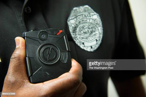 """View of a Prince Georges County emergency response officer's body camera as ERT""""s begin wearing body cameras in Upper Marlboro, MD on January 28,..."""