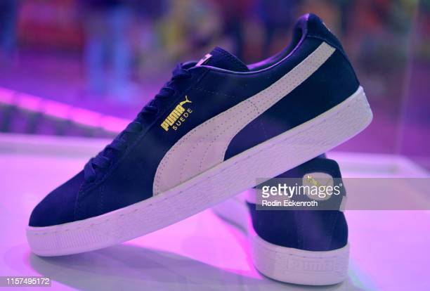 View of a Puma display during the 2019 BET Experience Kicksperience Sponsored By SPRITE at Los Angeles Convention Center on June 21, 2019 in Los...