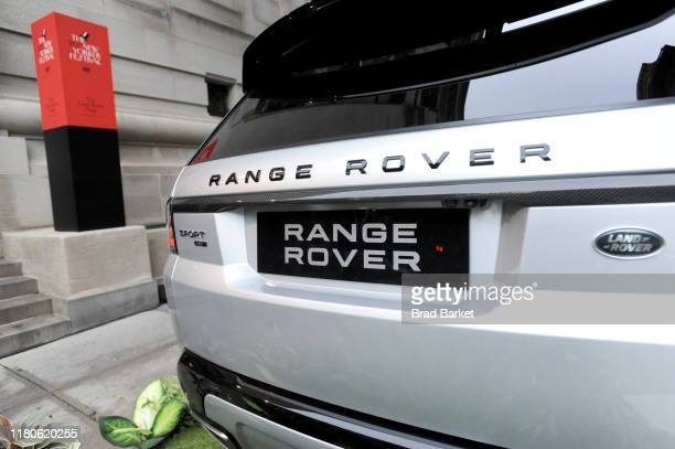 A view of a Range Rover parked outside at the 2019 New Yorker Festival on October 12 2019 in New York City