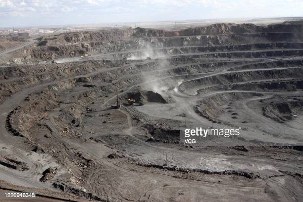 View of a rare earth mine at Bayan Obo Mining District on July 27, 2011 in Baotou, Inner Mongolia Autonomous Region of China.