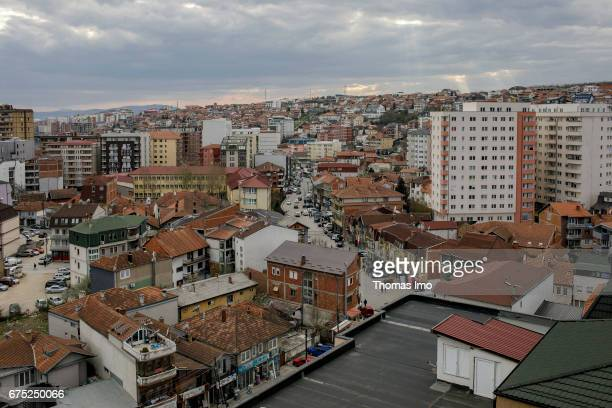 View of a residential area in Pristina on March 30 2017 in Pristina Kosovo