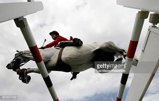 View of a rider and horse clearing a fence during The Sky Sports Speed Classic at the 2008 Longines Royal International Horse Show at Hickstead...