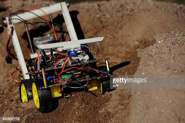 View of a robot made by Argentinian industrial engeneering student of the National University of Cuyo Marcos Bruno in Mendoza Argentina on June 17...