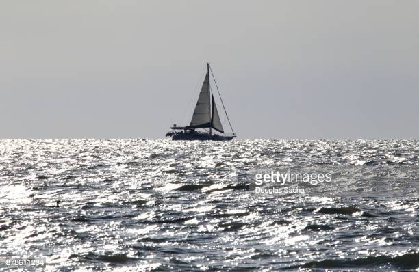 View of a Sailboat in the disatance