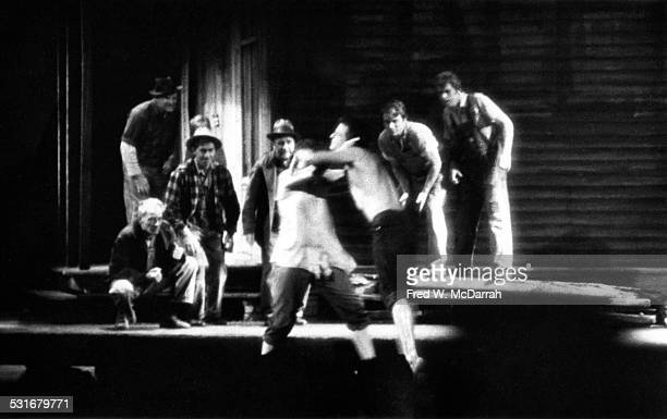 View of a scene from a production of 'The Ballad of the Sad Cafe' at New York University Theatre New York New York October 22 1963