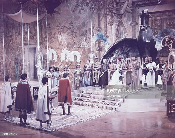 View of a scene from the movie Cleopatra starring Elizabeth Taylor and Richard Burton 1963