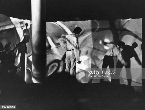 View of a scene from Timothy Leary's 'The Reincarnation of Christ' at the Village Gate New York New York November 1 1966