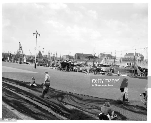A view of a Scheveningen Harbour in Den Hague Holland