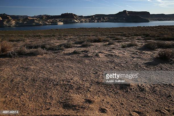 A view of a section of Lake Powell that used to be under water on March 30 2015 near Big Water Utah As severe drought grips parts of the Western...