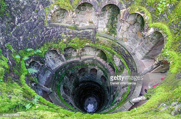 view of a section of the quinta da regaleira - unesco world heritage site stock pictures, royalty-free photos & images