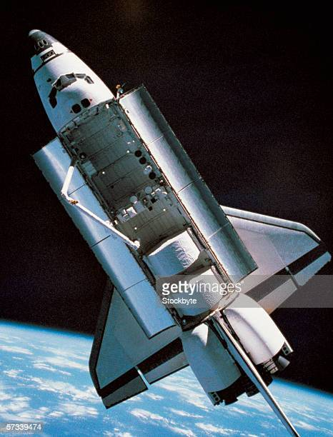 view of a shuttle in space