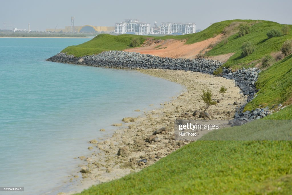 A view of a small beach of the Yas Links golf course with a new construction site in the background. Sentiment in the UAE's construction sector is optimistic at the moment as the region prepares for the upcoming Expo 2020. The event could be a catalyst for the UAE construction industry. The rise in oil prices could also be beneficial for contractors since regional governments are beginning to restart old projects or invest in new infrastructure development. The only concerns remain about the volume of works after 2020. On Tuesday, February 20, 2018, in Abu Dhabi, United Arab Emirates.