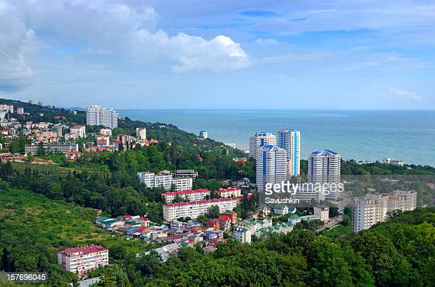 view of a sochi - sochi stock pictures, royalty-free photos & images