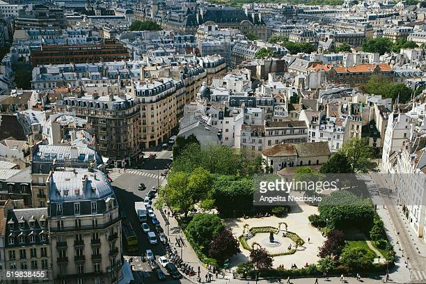 View of a square in Paris