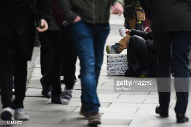 A view of a street beggar seen in Dublin City Center According to new research from ECA International Dublin is now the 5th most expensive city to...