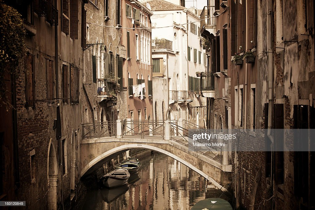 A view of a street located in Venice, Italy : Stock Photo