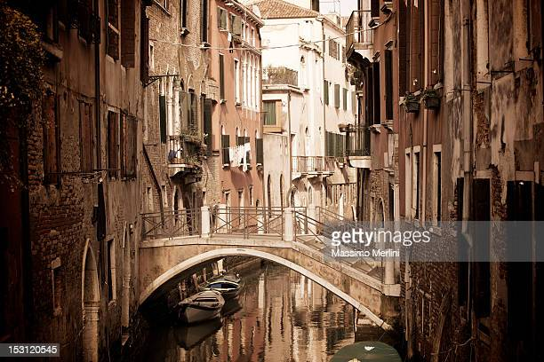A view of a street located in Venice, Italy