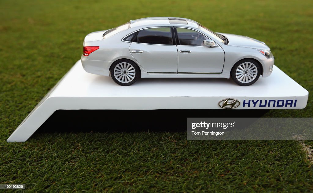 A View Of A Tee Marker During The Pro Am Round Of The Hyundai Tournament