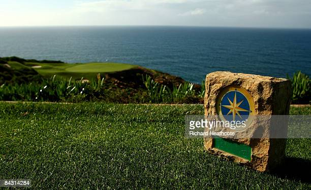 A view of a tee marker on the 7th hole at the Pinnacle Point Golf Course at Pinnacle Point Beach and Golf Resort on January 14 2009 in Mossel Bay...