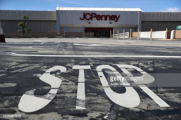 A view of a temporarily closed JCPenney store at The Shops at Tanforan Mall on May 15 2020 in San Bruno California JCPenney avoided bankruptcy after...