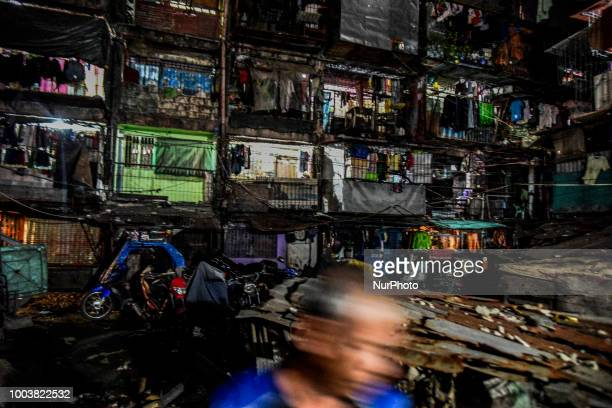 A view of a tenement housing community in Vitas Tondo district where many murders attributed to the drug war have taken place in Manila Philippines...