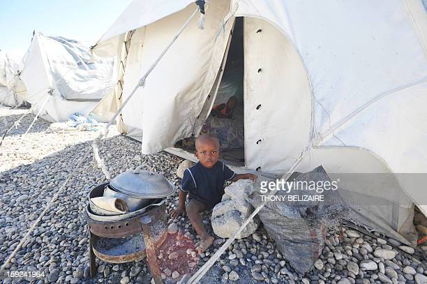 A view of a tent city is seen on January 8 2013 in Marassa a suburb of PortauPrince Three years after the earthquake that devastated Haiti000 people...