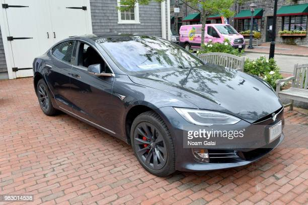 A view of a Tesla Model S at the 2018 Nantucket Film Festival Day 5 on June 24 2018 in Nantucket Massachusetts