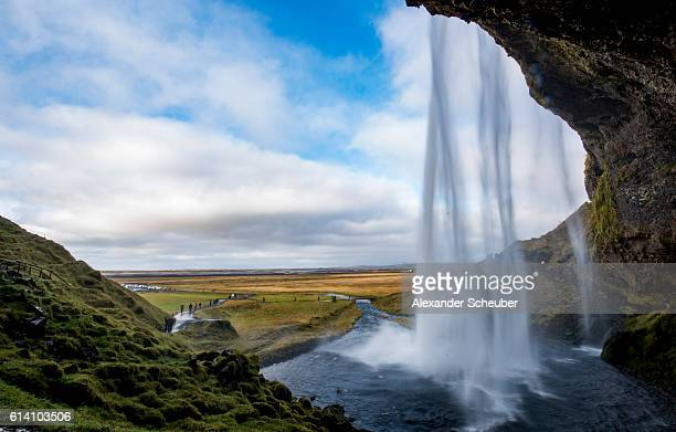 A view of a the Seljalandsfoss Waterfall on October 10 2016 in Rangarping eystra Iceland