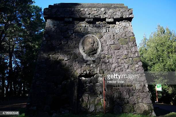 View of a tower in honour to German Kaiser Bismarck at Cerro Caracol in Concepcion host city of 2015 Copa America Chile on June 29 2015 in Concepcion...