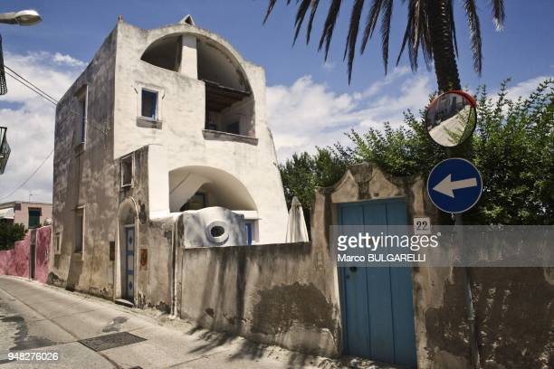 View of a traditional mediterranean architecture in Via Pizzaco on June 11 2012 in Procida Italy