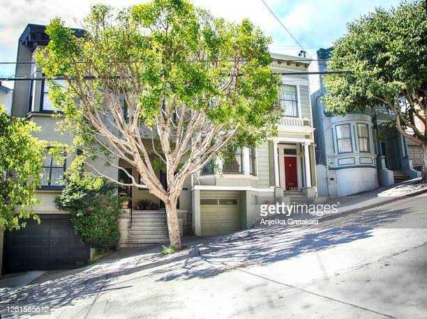 view of a typical san francisco street, usa - san francisco california stock pictures, royalty-free photos & images
